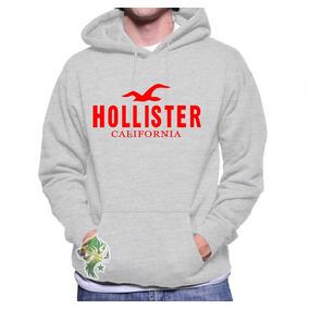Moletom Hollister Masculino E Feminino Blusa De Frio Canguru