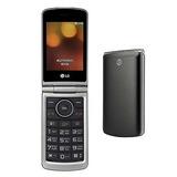 Celular Lg Flip Abre Fecha Bluetooth Idoso Tela Grande Preto