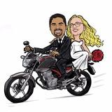 Caricatura Digital De Foto Casal Compre Conosco So R$47,00