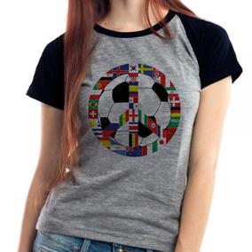 Camiseta Feminina Russia Copa Do Mundo 2018 Raglan