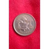 Moneda De Plata Antigua 25 Centavos 1952