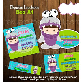 Kit Imprimible Etiquetas Escolares Monster Inc Boo Bebe