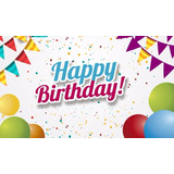 Painel Lona Festa 3,00x1,70mt Feliz Aniversário