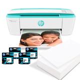 Hp Impresora Multifuncional 3789 Verde + 4 Cartuchos 664