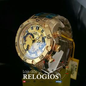 Relógio Invicta 22761 Dourado Novo Origina 18k+ferrari Black