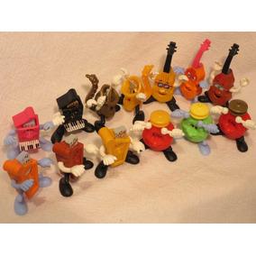 Instrumentos Musicais Animados Kinder Ovo Coleção 13 Peças