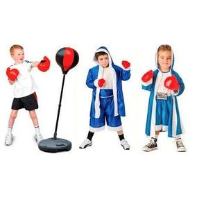 Kit De Boxeo Para Niños Saco Bolsa De Box + Guantes