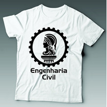 Camiseta Universitária Engenharia Civil Personalizada