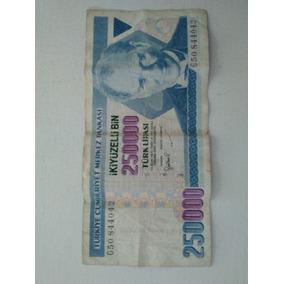 Billete De 250000 Liras Turkia