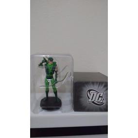 Arqueiro Verde Em Miniatura De Metal Pintada À Mão Lacrado.