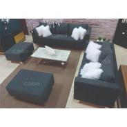 Juego De Living Sofa De 240 Mas Sofa De 180 Mas 2 Puff
