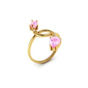 c138be7f5dcea Anel De Ouri Branço Dourado E Rosa - Anéis com o melhor preço no ...