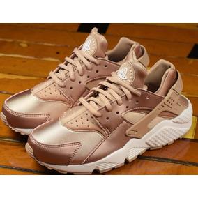 Tenis Nike Air Huarache Pink Gold En Caja Envío Gratis