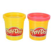 Massinha Play-doh - 2 Potes Amarelo E Rosa - Hasbro