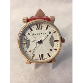 Reloj Bvulgari Para Caballero Extensible Piel Color Cafe