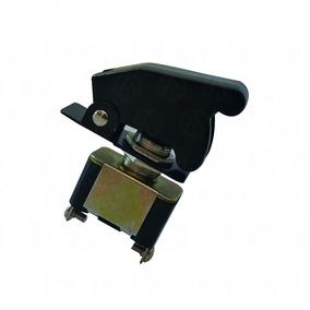 Switch Interruptor Tipo Avion 12v Color Negro 2
