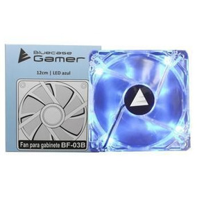Cooler Fan Bluecase Led Azul 120x120mm Para Gabinete Bf-03r