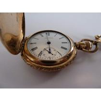 Reloj De Bolsillo Waltham, Chapa De Oro 12k.