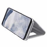 Carcasa Forro S-view Flip Cover Samsung Galaxy S8+ Plateado