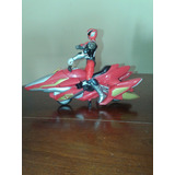 Moto Power Rangers Dino Trueno Con Muñeco Original Bandai 04