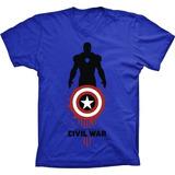 0d67d0f20c Camisa Camiseta Capitão America Rogers Civil War Guerra Civl