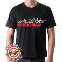Camiseta Instrumentos Musicais Ernie Ball Music Man.