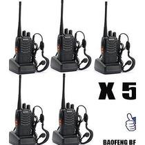 Set De 5 Radios De Dos Vías Baofeng Bf-888s Envío Gratuito