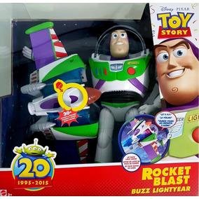 Boneco Toy Story Buzz Turbo Jato 30 Sons - Mattel Mattel