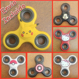 Spinner Mickey Kitty Pokemon Capitan America Pikachu No Led