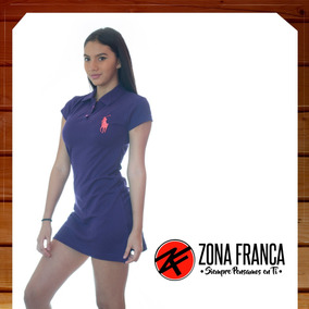 Vestido Chemise Unicolor De Dama Polo Tommy Al Mayor