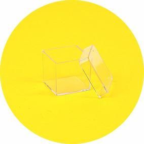 200 Caixinhas Acrílicas3 X 3 Cristal Decoração Lembrancinha