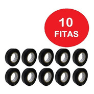 Kit Com 10 Rolos - Fita Isolante 10 Mts X 19 Mm Anti Chama