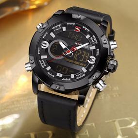 Relógio Masculino Naviforce 9097 Com Caixa Pulseira Couro