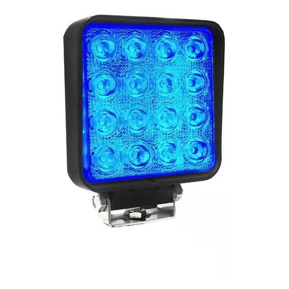 Faro Auxiliar Proyector 16 Led 48 W Luz Azul Spot