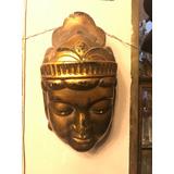 Antigua Mascara Realizada En Yeso Bañada En Oro
