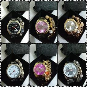 Kit Com 10 Relógios Mk Feminino + Pulseira + Caixas + Frete