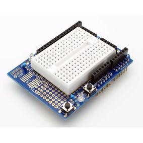 Protoshield Para Arduino Uno Leonardo Con Protoboard Nubbeo