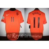 Camiseta Holanda Nike 100% Original 11 Robben Mundial 2010