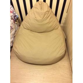 Pufe Puf Bag - Tok Stok - Cor Marrom - Tecido Lavável