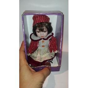 Muñeca De Porcelana En Caja 8 Pulgadas