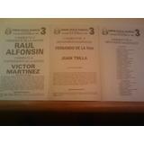 Boleta Electoral Alfonsín Ucr 1983