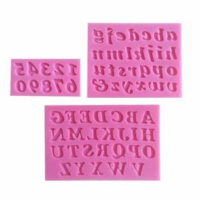 Molde Silicone Números E Letras P/pasta De Flores, Descrição