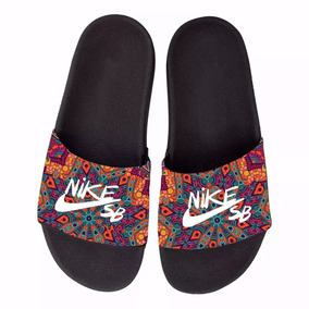 Chinelo Nike Slide Beach Floral Étnico Sandalia Rasteira