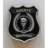 Brasão Emborrachado Agente Segurança + Frete Gratis