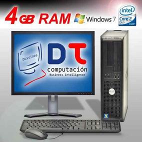 Cpu 4 Gb 500 Hd Dell/hp Alto Rendimiento En Internet !!