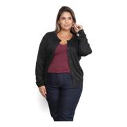 Cardigan Feminino Aberto Trico Suéter - Plus Size G1 G2 G3