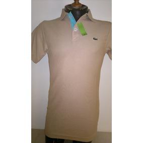 Camisa Playera Polo Marca Lacoste Color Piel Moda Caballero