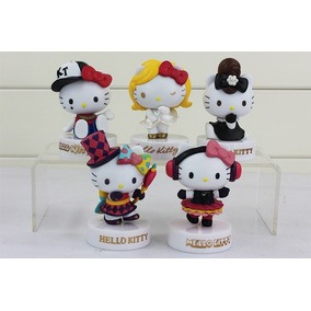 5 Figuras Para Centro De Mesa O Pastel De Hello Kitty Pvc