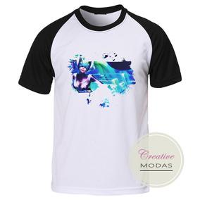 Camiseta Camisa Raglan Geek Gamer League Of Legends Sona