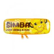 Estojo Metal Amarelo Simba Rei Leão 6x4x19cm - Disney